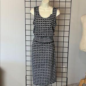 MAX STUDIO Black Print Midi Dress, Sz S, NWT $98